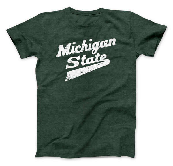 Nudge Printing Michigan State Spartans Hockey Logo Shirt Green