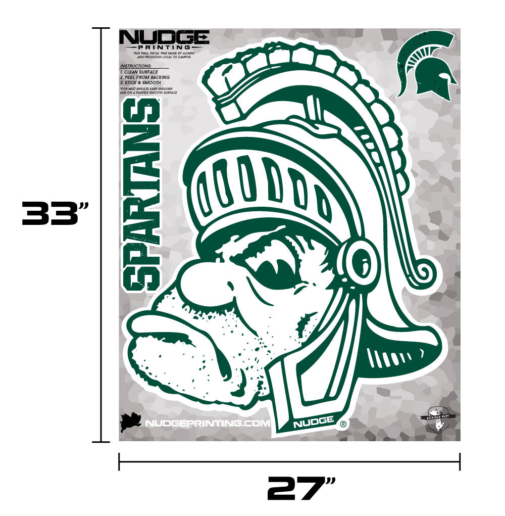 Michigan State University Gruff Sparty - XL MSU Wall Decal Sticker Set - Nudge Printing