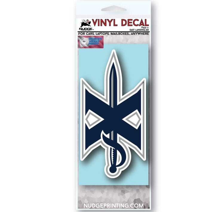 Xavier University Block X with Sword Car Decal - Nudge Printing
