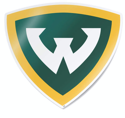 Wayne State University Warriors Full Color Shield Logo Car Decal Bumper Sticker Laptop Sticker - Nudge Printing