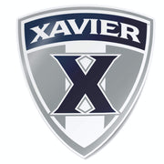 Xavier University Musketeers X Shield Car Window Decal Bumper Sticker - Nudge Printing