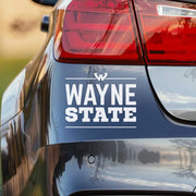 Wayne State University Word Block Car Decal Bumper Sticker Laptop Sticker - Nudge Printing