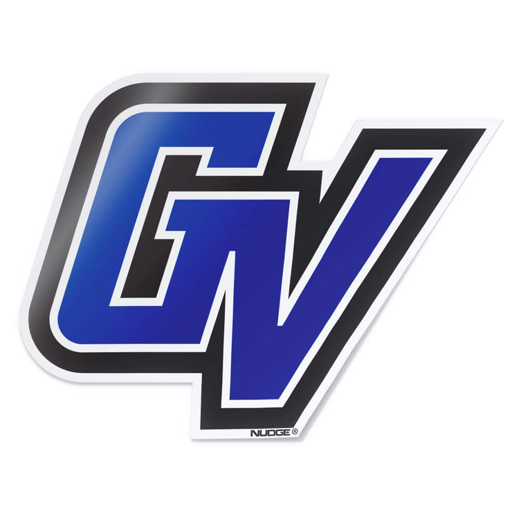 Grand Valley State University GVSU Lakers Blue GV Car Window Decal Bumper Sticker Emblem Laptop Sticker - Nudge Printing