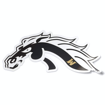 Western Michigan University Bronco Head Black and White Car Decal Bumper Sticker Laptop Sticker - Nudge Printing