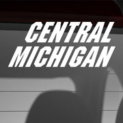 Central Michigan University - White Vinyl Text Car Decal - Nudge Printing