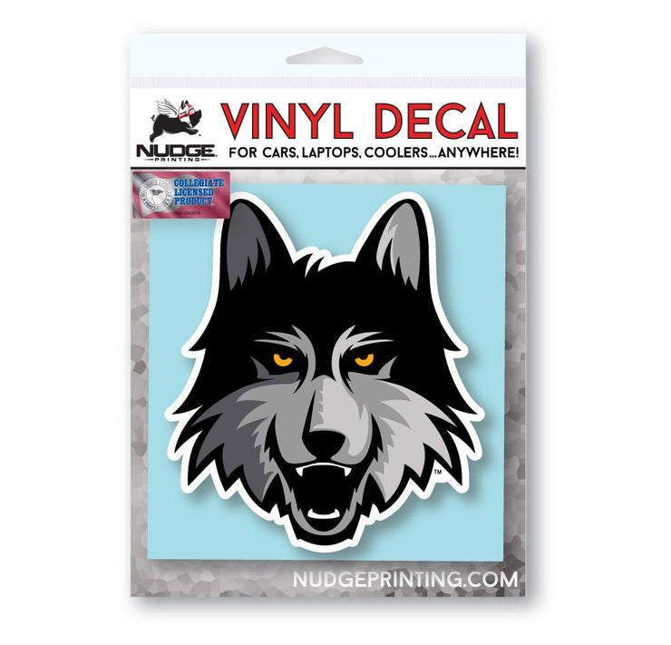 Loyola University Chicago Ramblers LU Wolf Vinyl Car Window Decal Laptop Bumper Sticker - Nudge Printing