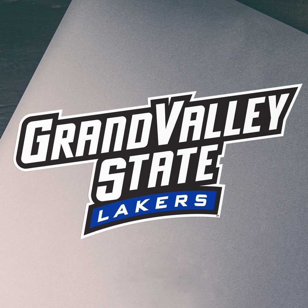 Grand Valley State University GVSU Lakers Long Car Window Decal Bumper Sticker Emblem Laptop Sticker - Nudge Printing