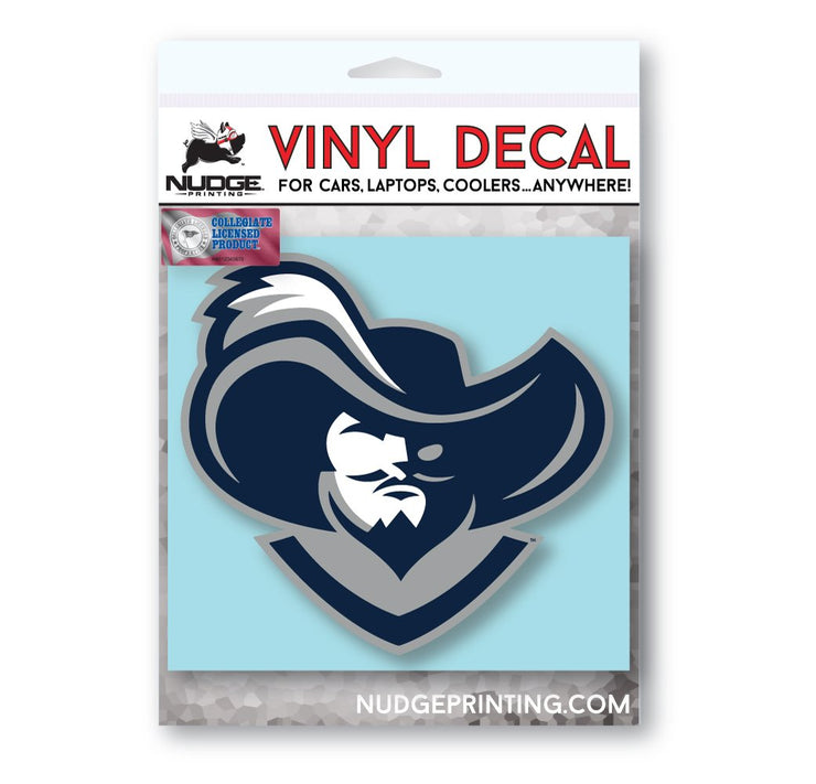 Xavier University D'Artagnan the Musketeer Car Decal - Nudge Printing