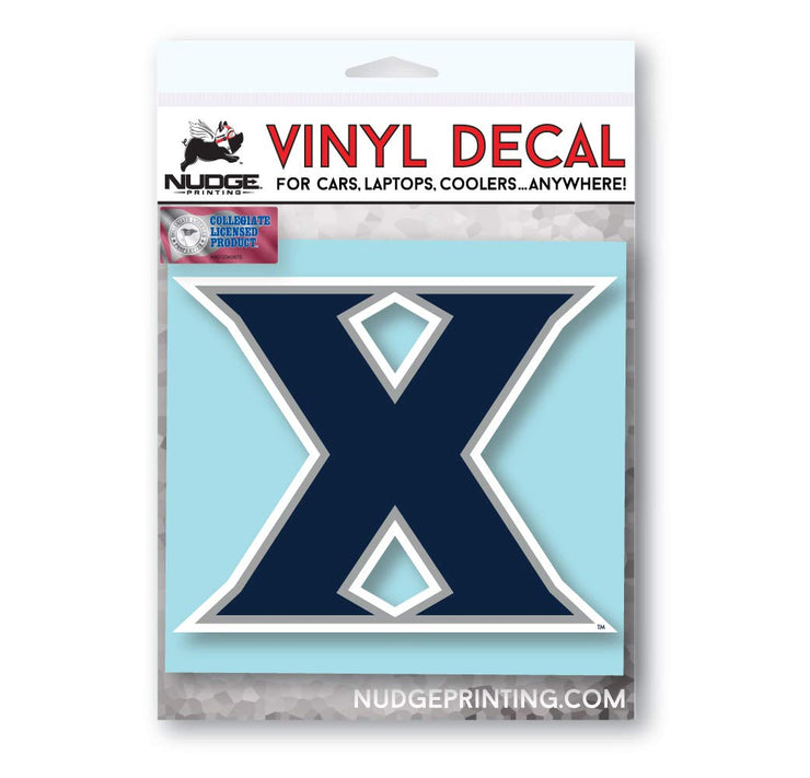 Xavier University Musketeers X Car Window Decal Bumper Sticker - Nudge Printing
