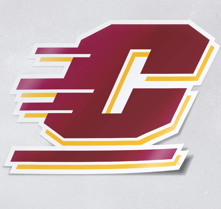 Central Michigan University - Action C in Full Color Car Decal - Nudge Printing