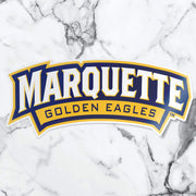Marquette University Golden Eagles Banner Car Window Decal Bumper Sticker - Nudge Printing