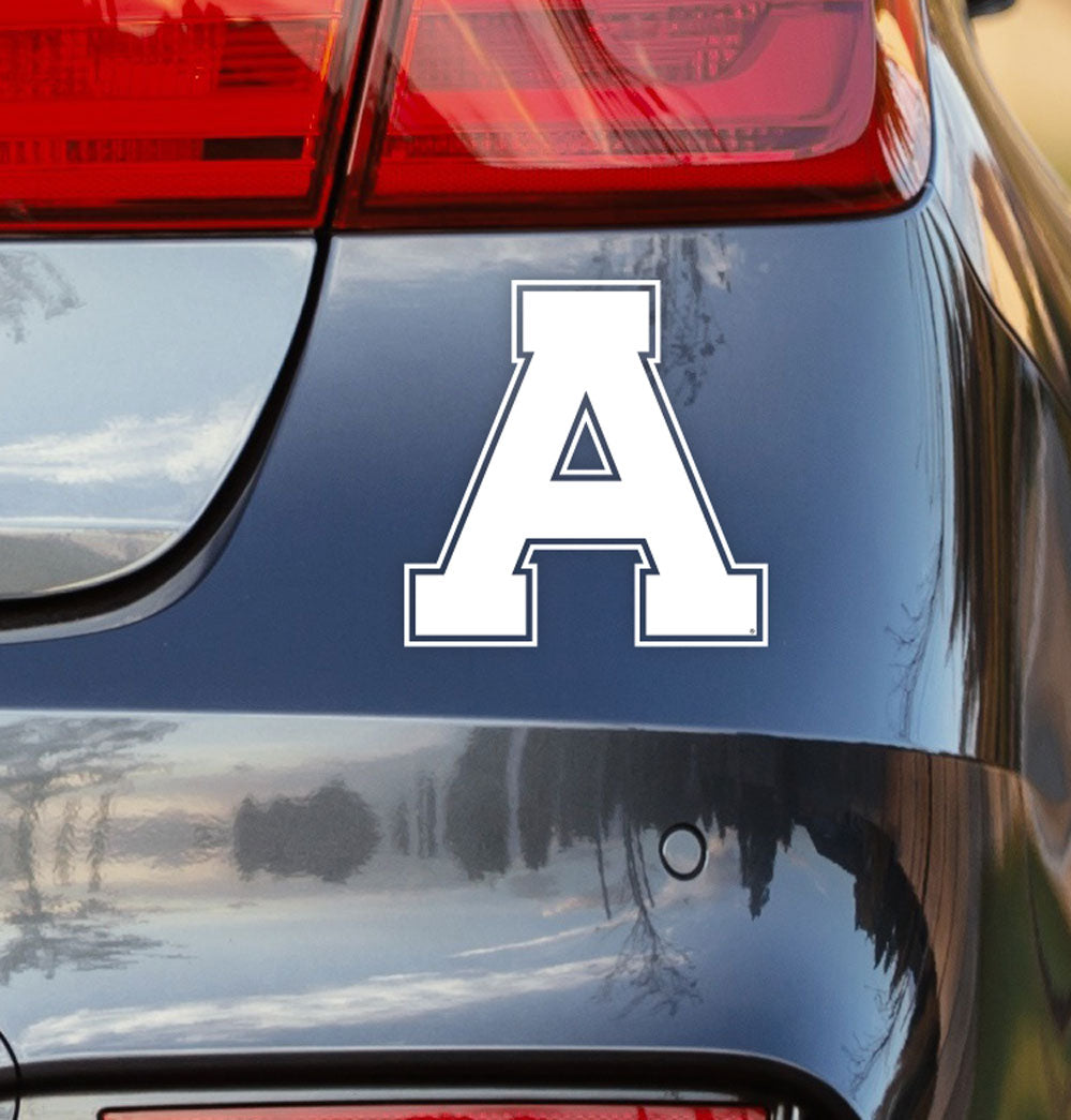 ALMA College White A Car Decal - Nudge Printing