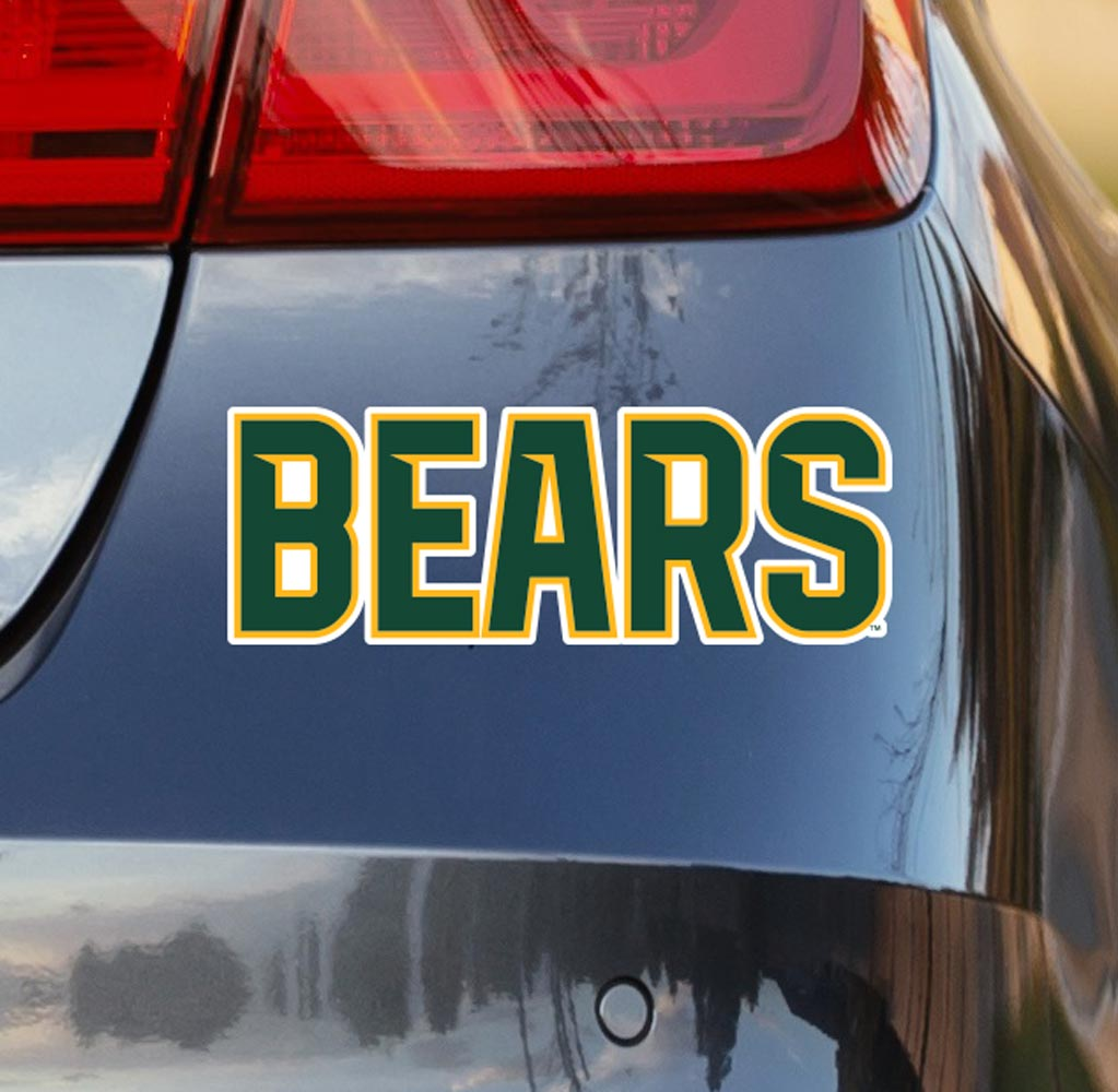 Baylor University Green Bears Vinyl Car Decal Sticker - Nudge Printing