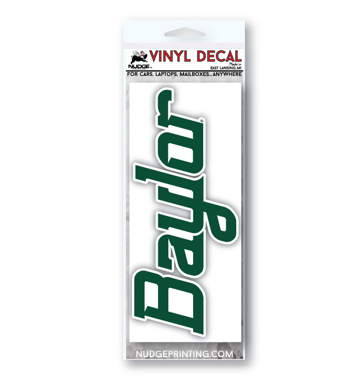 Baylor Script Vinyl Car Decal Sticker - Nudge Printing