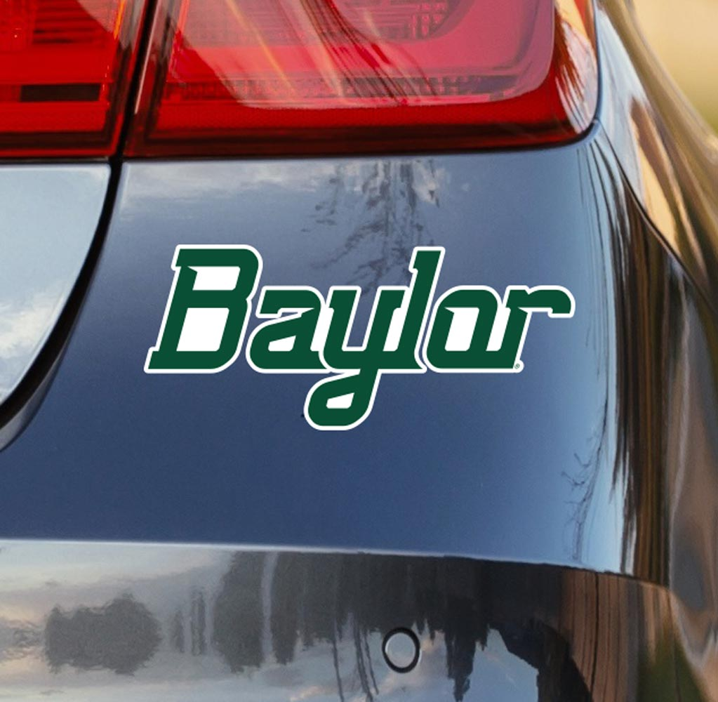 Baylor Green Script Vinyl Car Decal Sticker - Nudge Printing