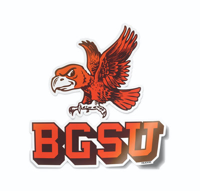 Vintage Bowling Green State University Falcon Vinyl Car Decal Sticker - Nudge Printing