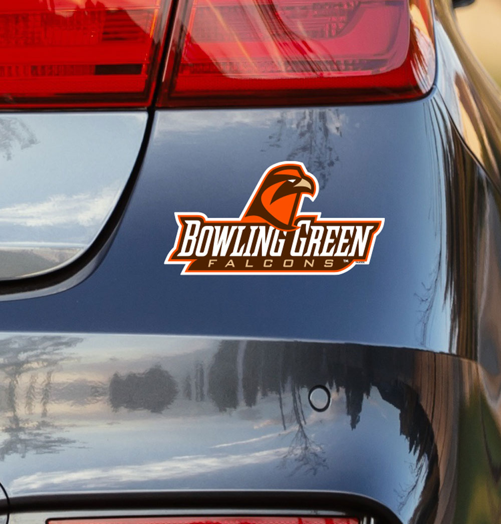 Bowling Green State University Falcon Script Vinyl Car Decal Sticker - Nudge Printing