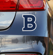 "Butler University ""B"" Blue Vinyl Car Decal Sticker - Nudge Printing"