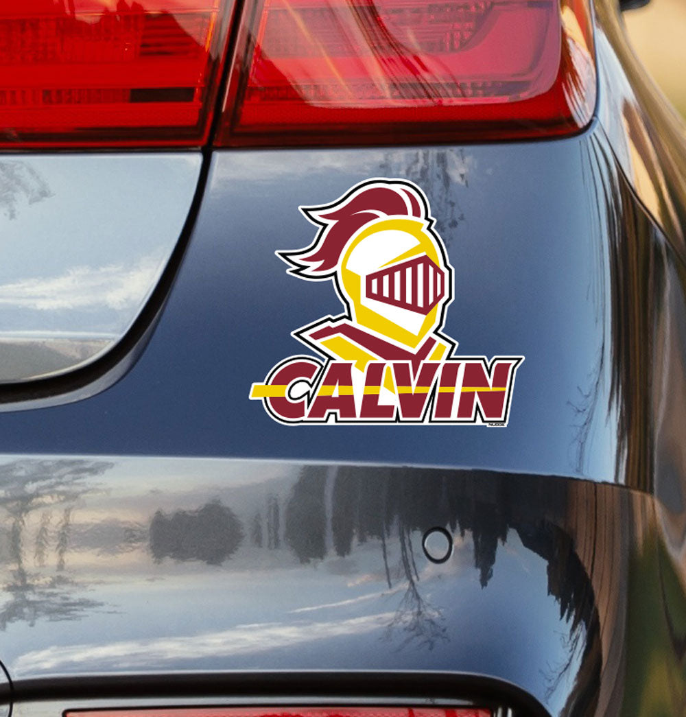 Calvin College Knights Logo Vinyl Car Decal Sticker - Nudge Printing