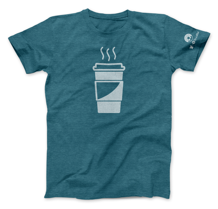 Coffee and Donut T-shirt from Nudge Printing's The Buffet Line