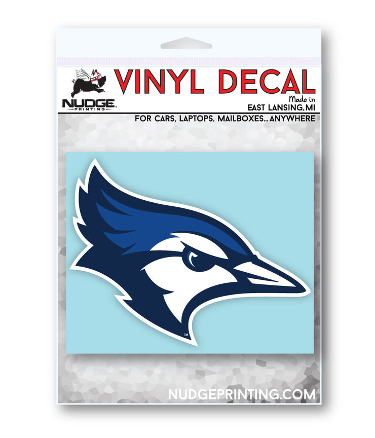 Creighton University Bluejay Vinyl Decal Sticker - Nudge Printing