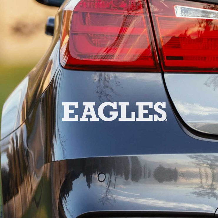Eastern Michigan University - Eagles White Vinyl Car Decal - Nudge Printing