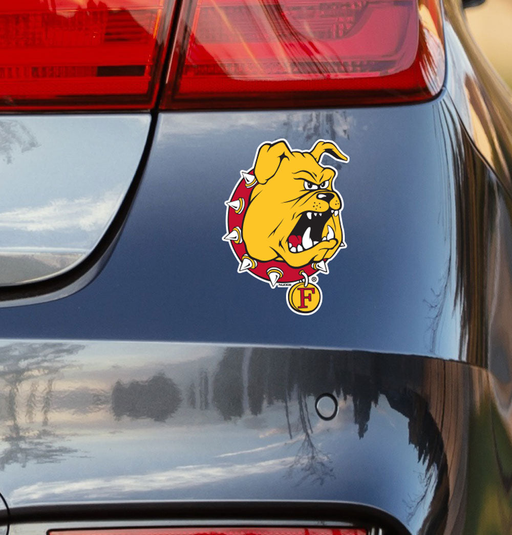 Ferris State University Bulldog Vinyl Car Decal Sticker - Nudge Printing