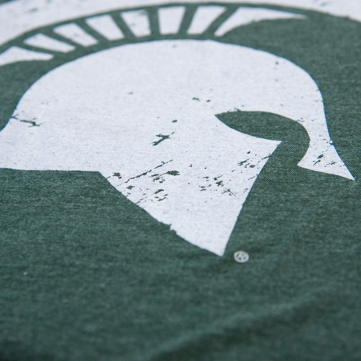 Michigan State Spartan Helmet Sparty Head T-shirt - 2 Color Options - Nudge Printing