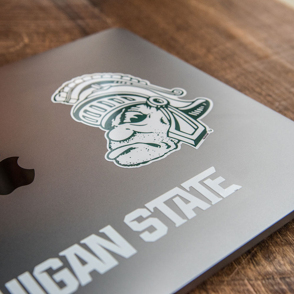 Nudge Printing Michigan State University Spartans Gruff Sparty Car Decal Bumper Sticker