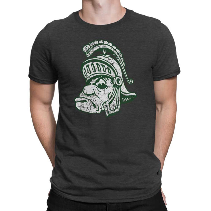 Retro Michigan State Spartans Gruff Sparty Head MSU T-Shirt - Nudge Printing
