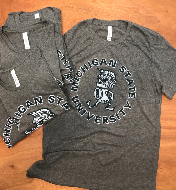Michigan State Spartans Tough Sparty Vintage MSU T-Shirt - Nudge Printing