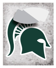 Classic Michigan State MSU Spartan Helmet Sparty Head - XL Wall Decal Set - Nudge Printing
