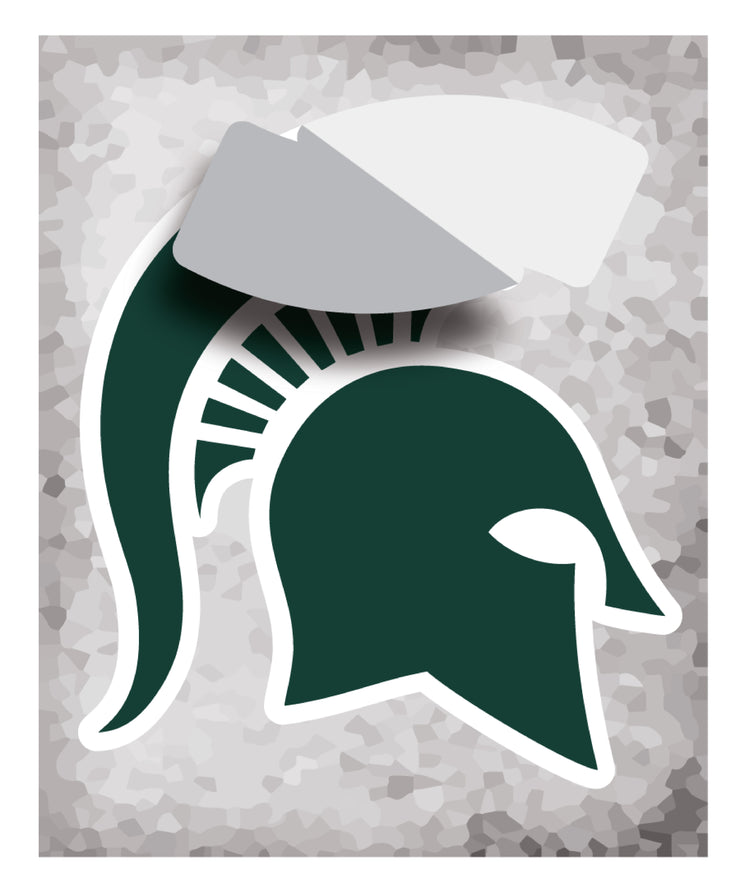 Michigan State MSU Spartans Ready for Battle Sparty - XL Wall Decal Sticker Set - Nudge Printing