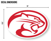 University of Houston Cougars Corn Hole DIY Sticker Decal Sticker Set - Nudge Printing