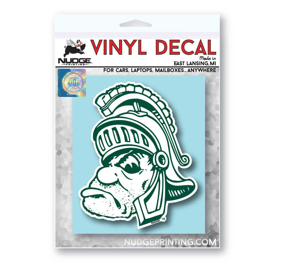Michigan State Spartans Gruff Sparty Car Decal