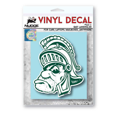 Michigan State Gruff Sparty Vinyl Car Decal Sticker