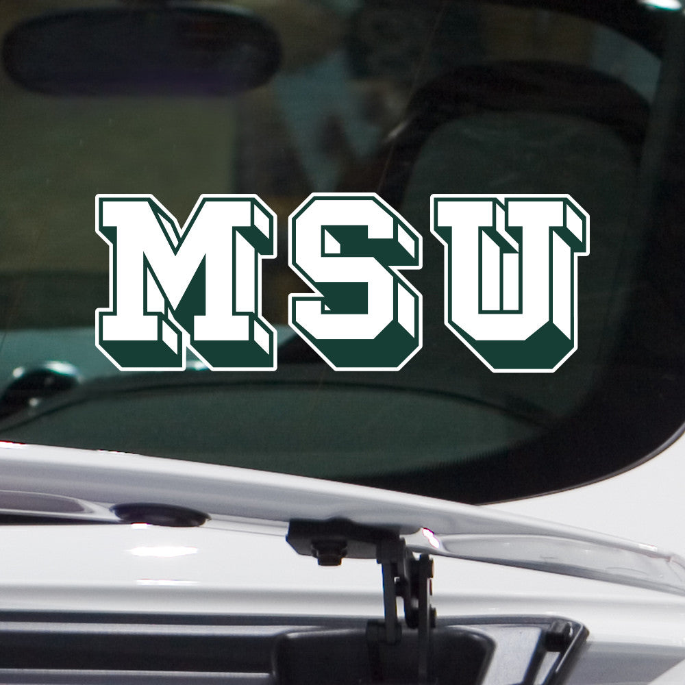 Retro michigan state block msu car decal sticker nudge printing