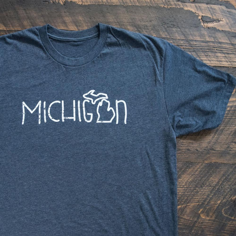 Red Michigan Doodle T-shirt from Nudge Printing