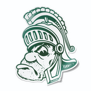 Michigan State Gruff Sparty Vinyl Car Decal Sticker - Nudge Printing
