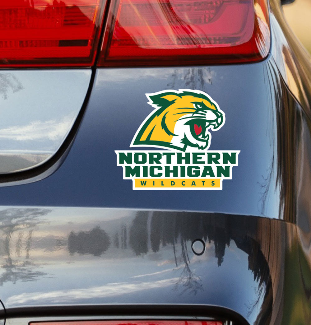 Northern Michigan University Wildcat Logo Vinyl Car Decal Sticker - Nudge Printing