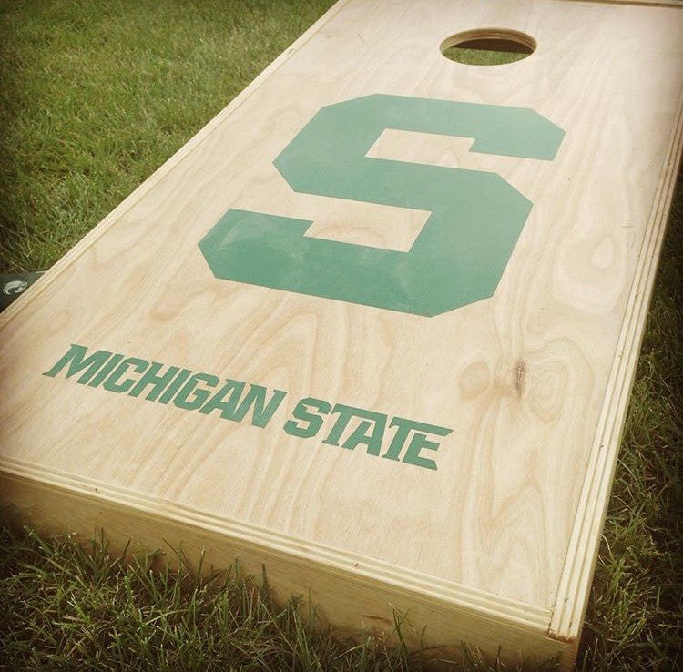 Michigan State University Spartan Corn Hole Vinyl Decal Set