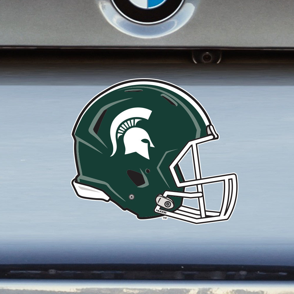 Michigan State University Spartans MSU Football Helmet Sparty Car Window Decal Bumper Sticker Laptop Sticker - Nudge Printing