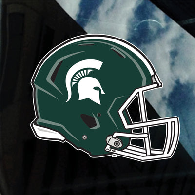 Michigan State Spartans MSU Football Helmet Sparty Car Decal Sticker - Nudge Printing
