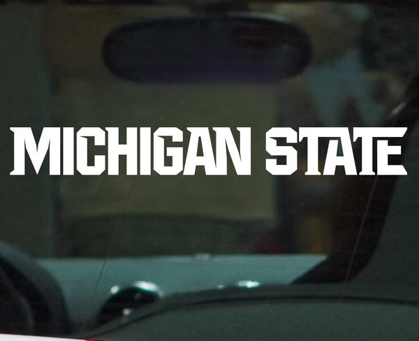 Michigan State Msu Spartans Athletics Font Vinyl Car Decal