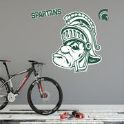 Michigan State MSU Gruff Sparty - XL Wall Decal Sticker Set - Nudge Printing