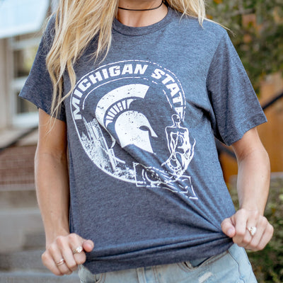 Michigan State Spartan Passport MSU T-Shirt - Nudge Printing
