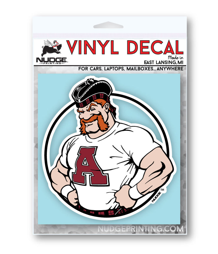 Alma College Scotty Mascot Decal - Nudge Printing
