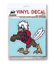 Liberty University Sparky Vinyl Car Decal Sticker - Nudge Printing