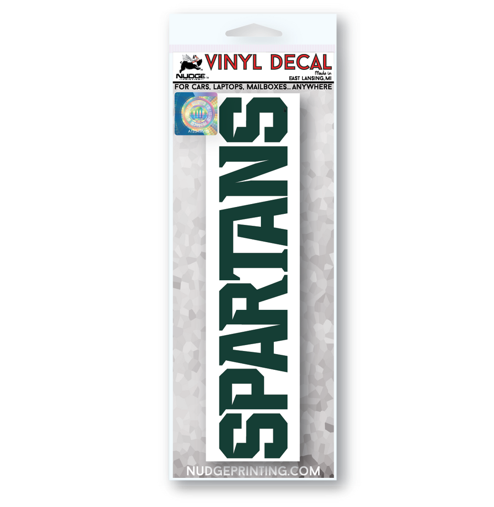 Green Michigan State Spartans Car Decal