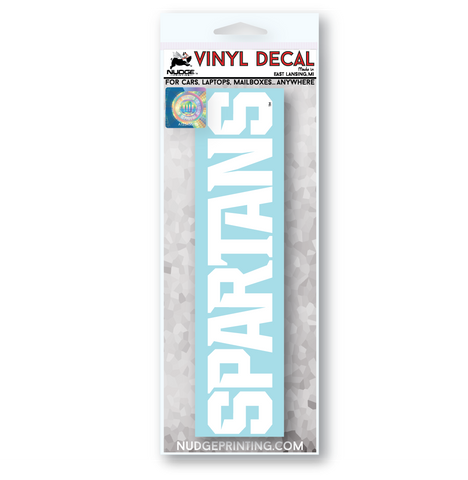 White Michigan State Spartans Car Decal